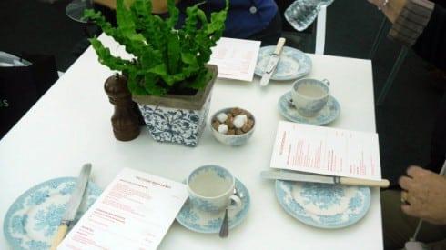 Court restaurant table