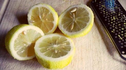 Lemons cut