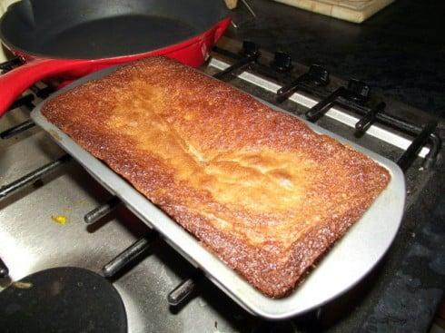 Baked hidden oreo cake