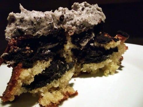 Hidden oreo cake slice