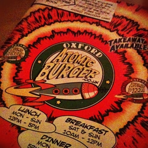 Atomic Burger menu