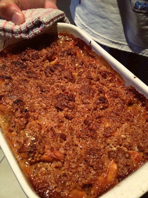 Betty Crocker apple crisp baked
