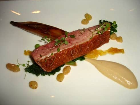 Le Manoir duck onion puree
