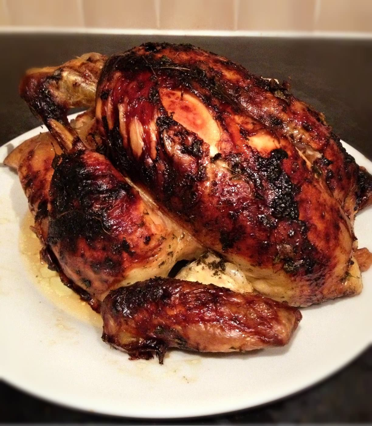 honey herb chicken roasted