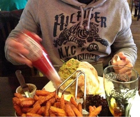 Hache burger chelsea london lunch