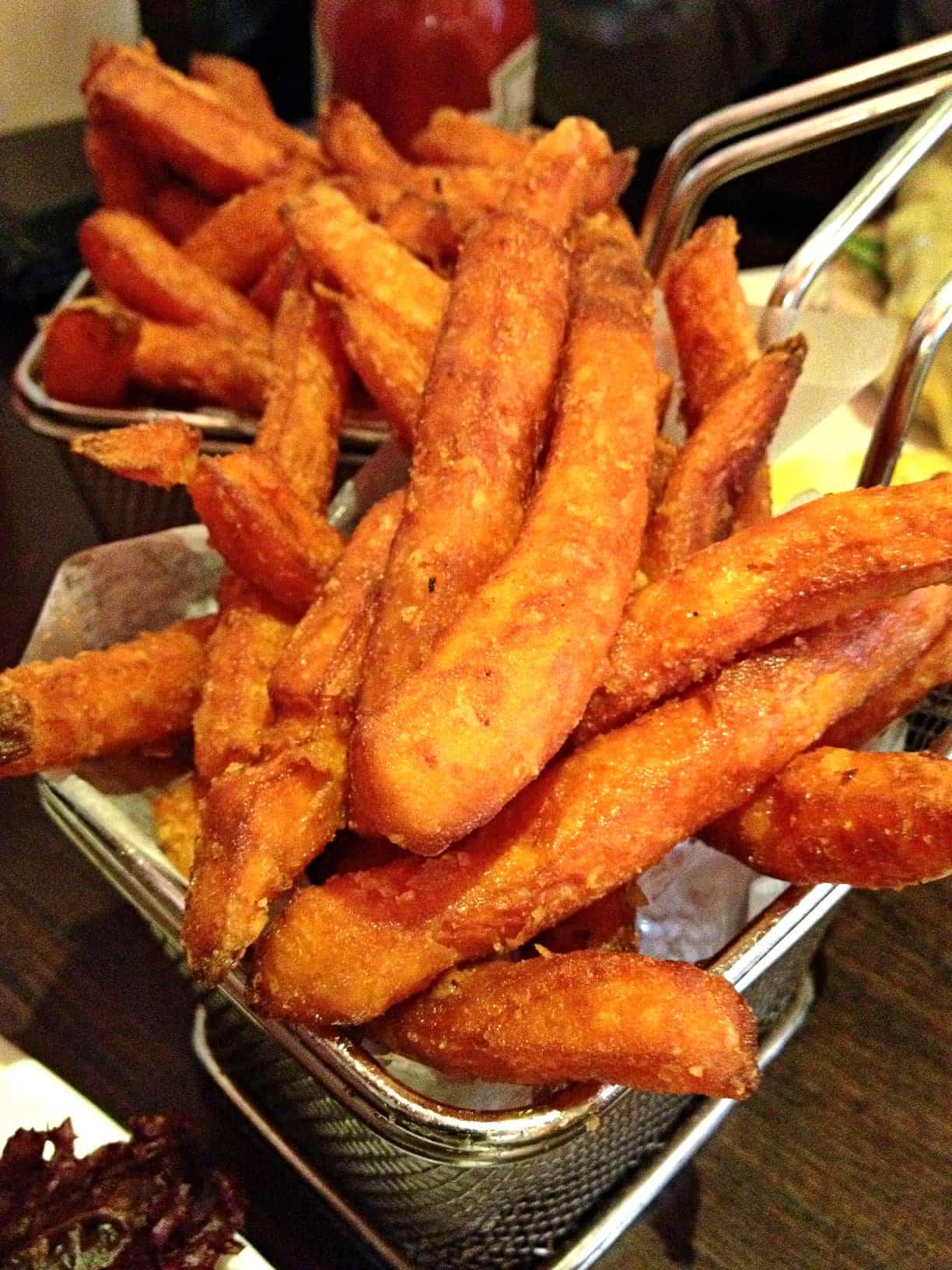 Hache burger chelsea london sweet potato fries 2