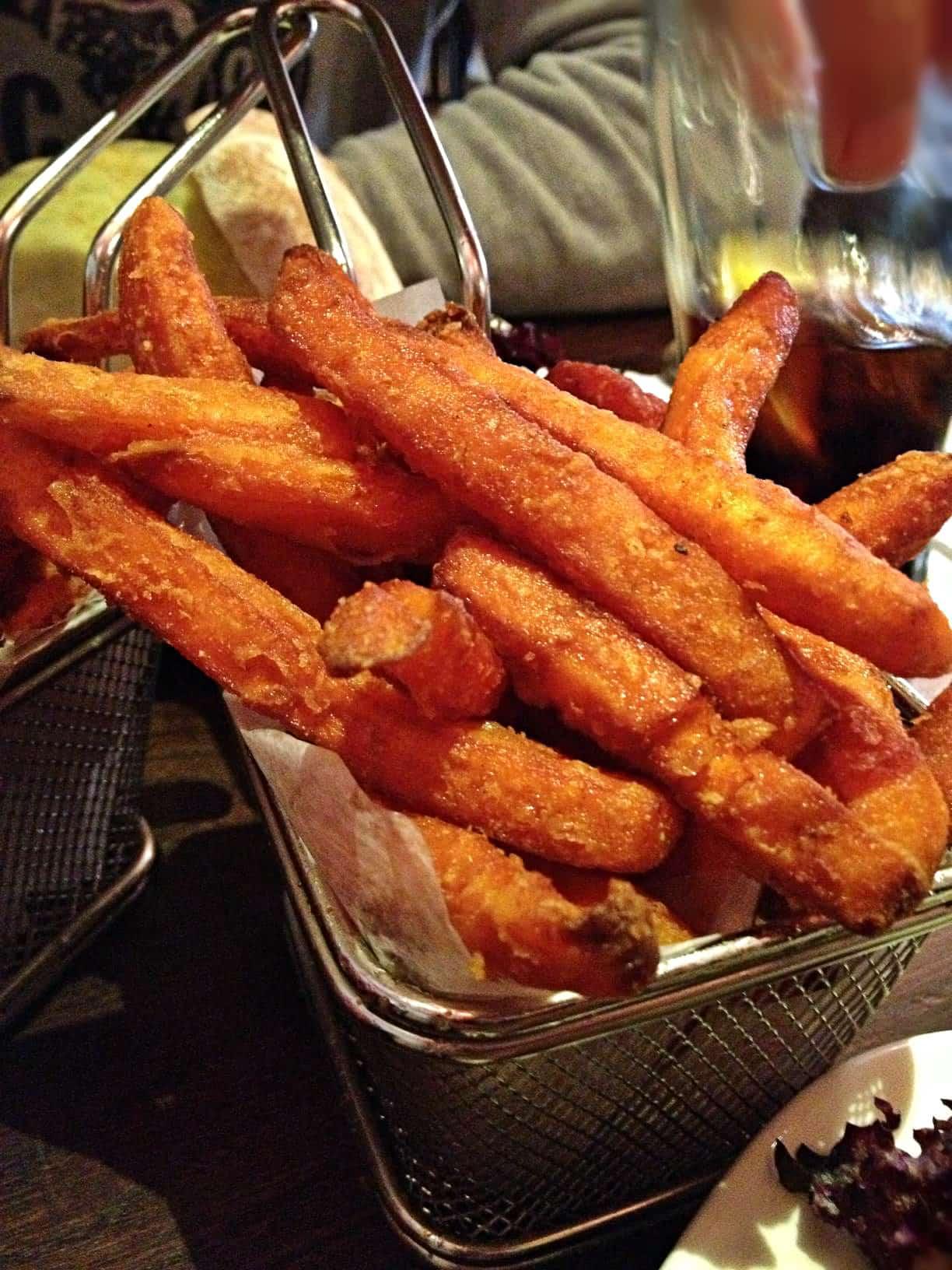 Hache burger chelsea london sweet potato fries