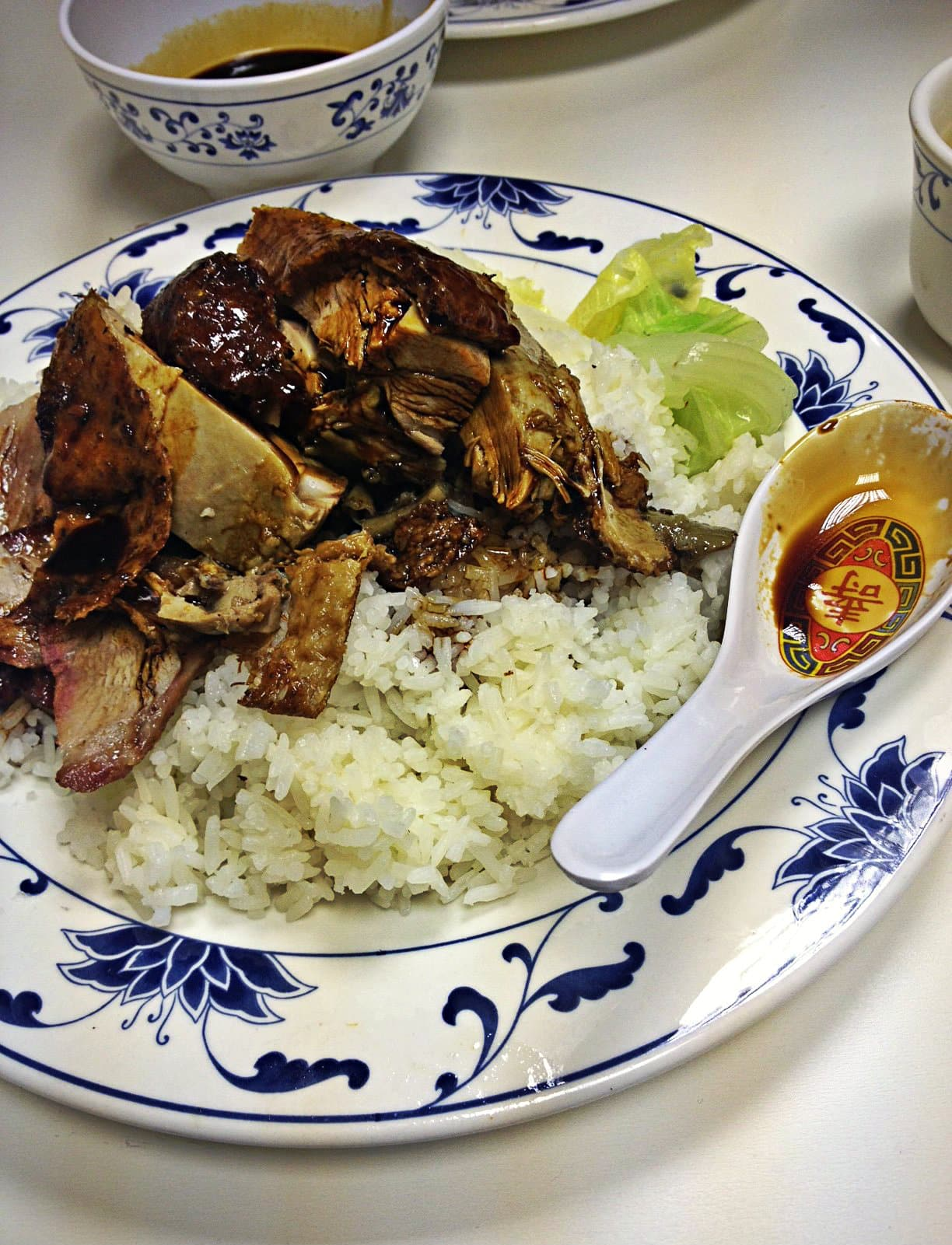 Chinese pork and duck with rice