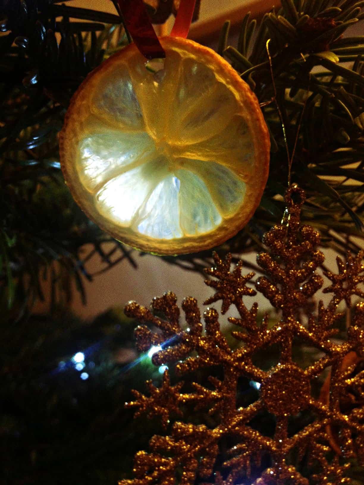 Orange christmas decoration 3