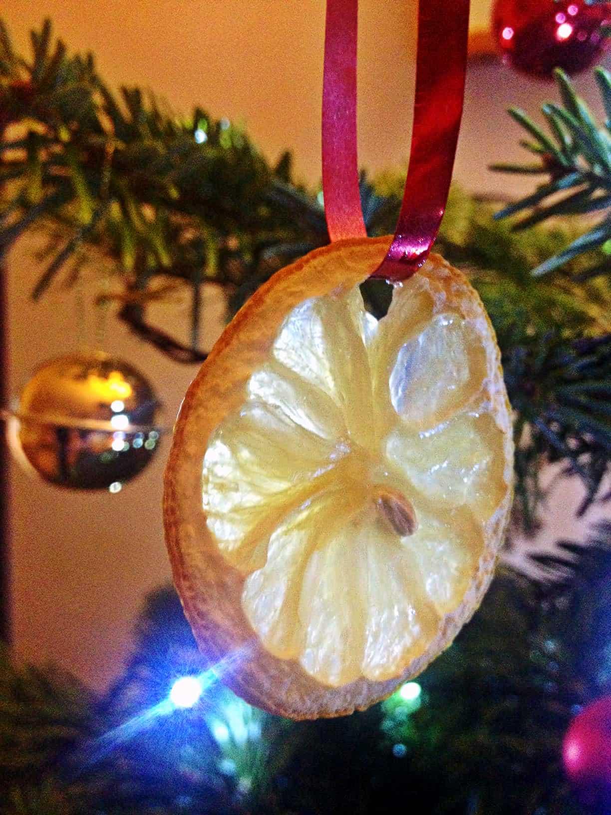 Orange christmas decoration 4