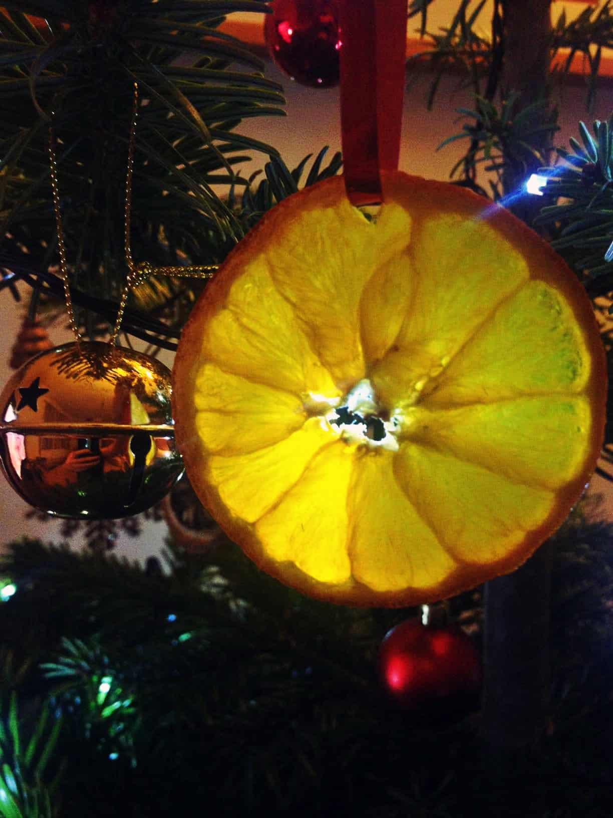 Orange christmas decoration 5