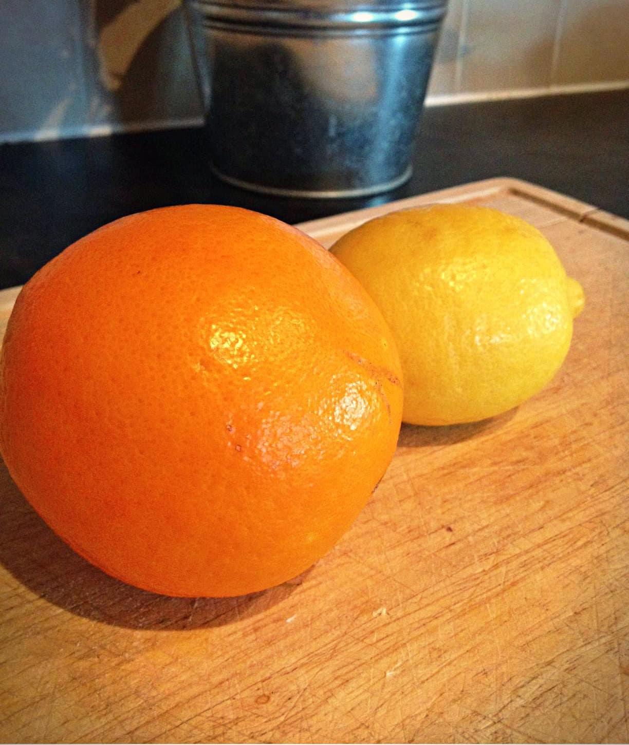 Orange lemon Christmas decoration