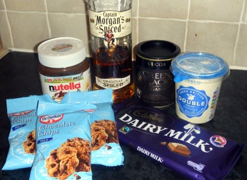 Rum truffle ingredients