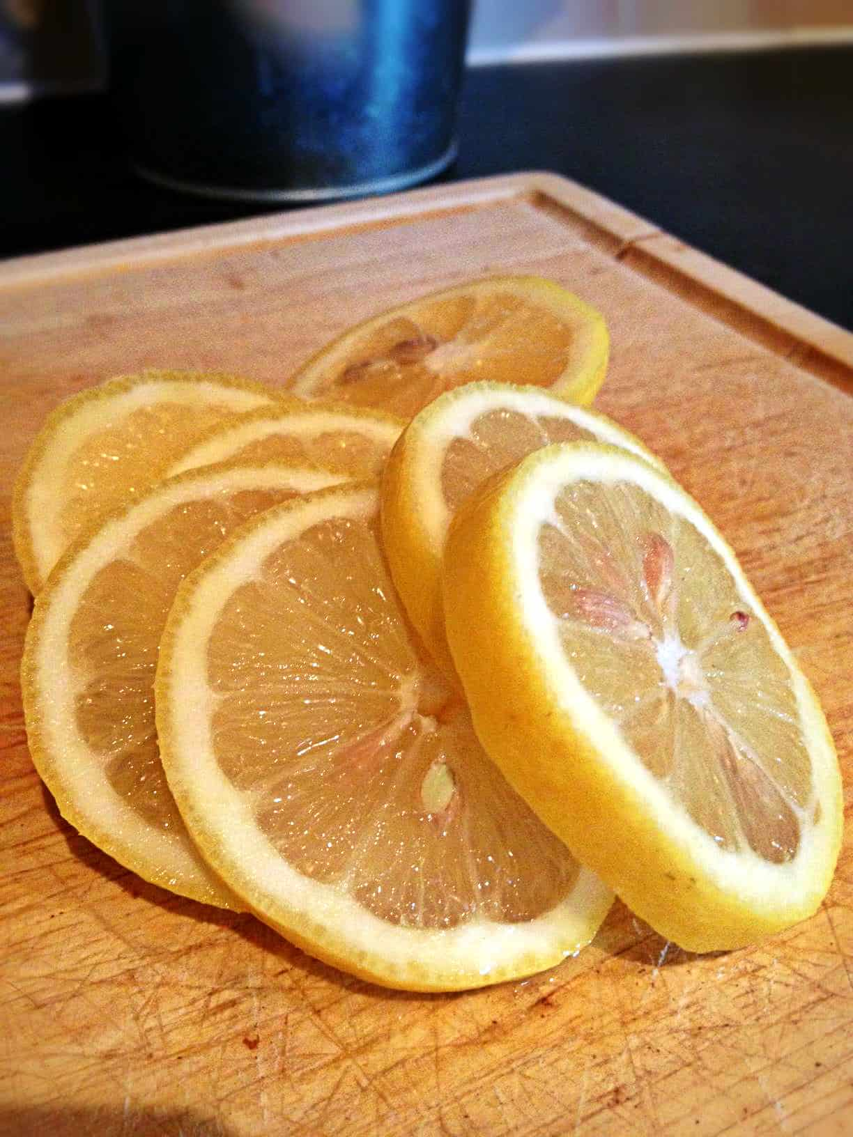 Slice lemon for christmas decoration