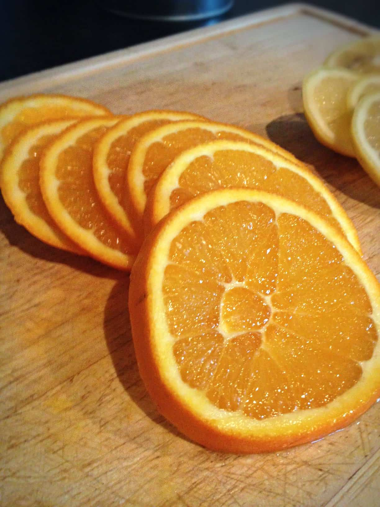 Sliced orange for christmas decoration