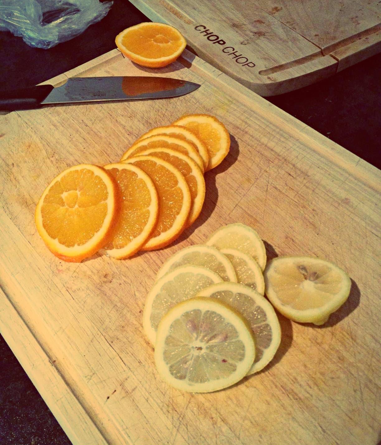 Sliced orange lemon christmas decoration