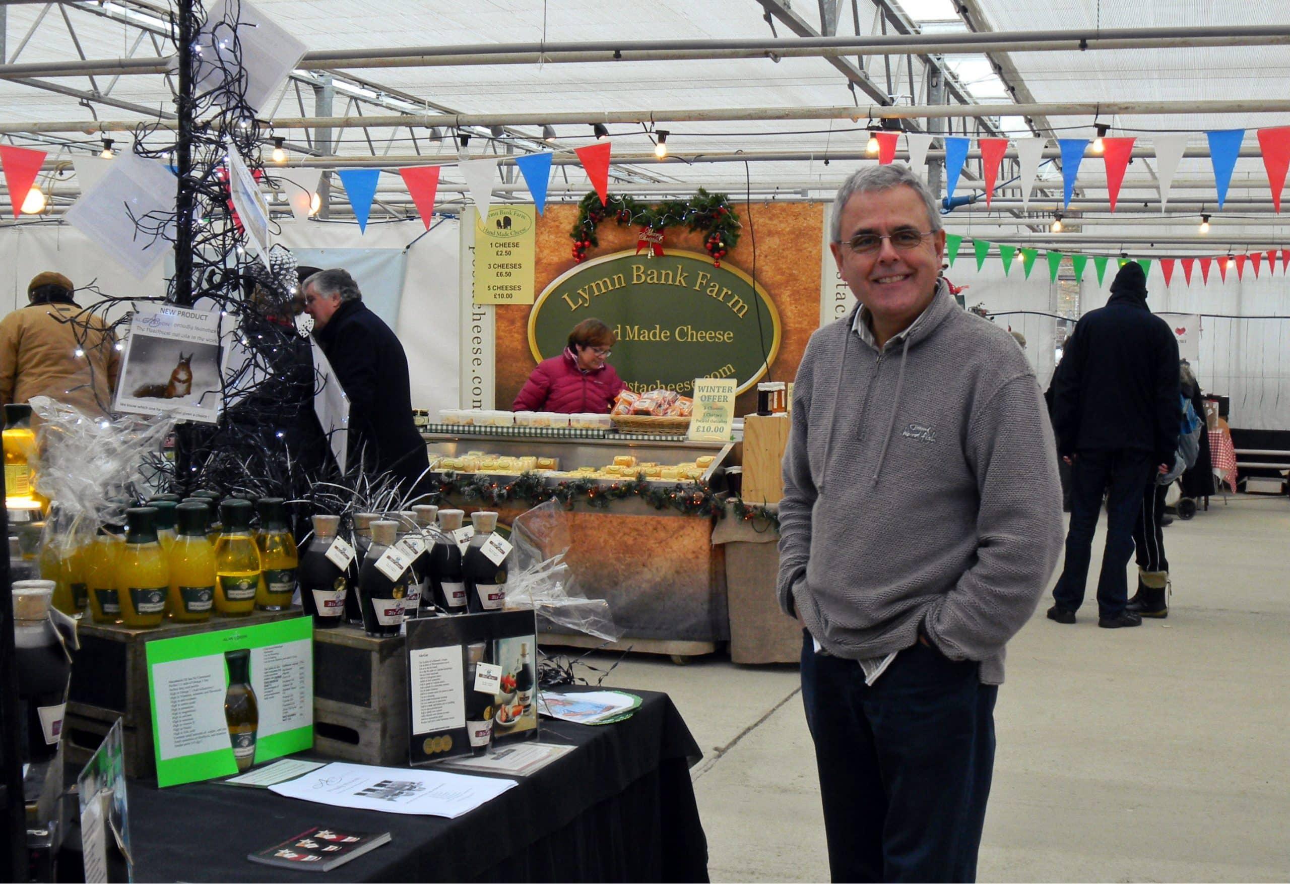 Waddesdon Manor food market Alan Coxon oil