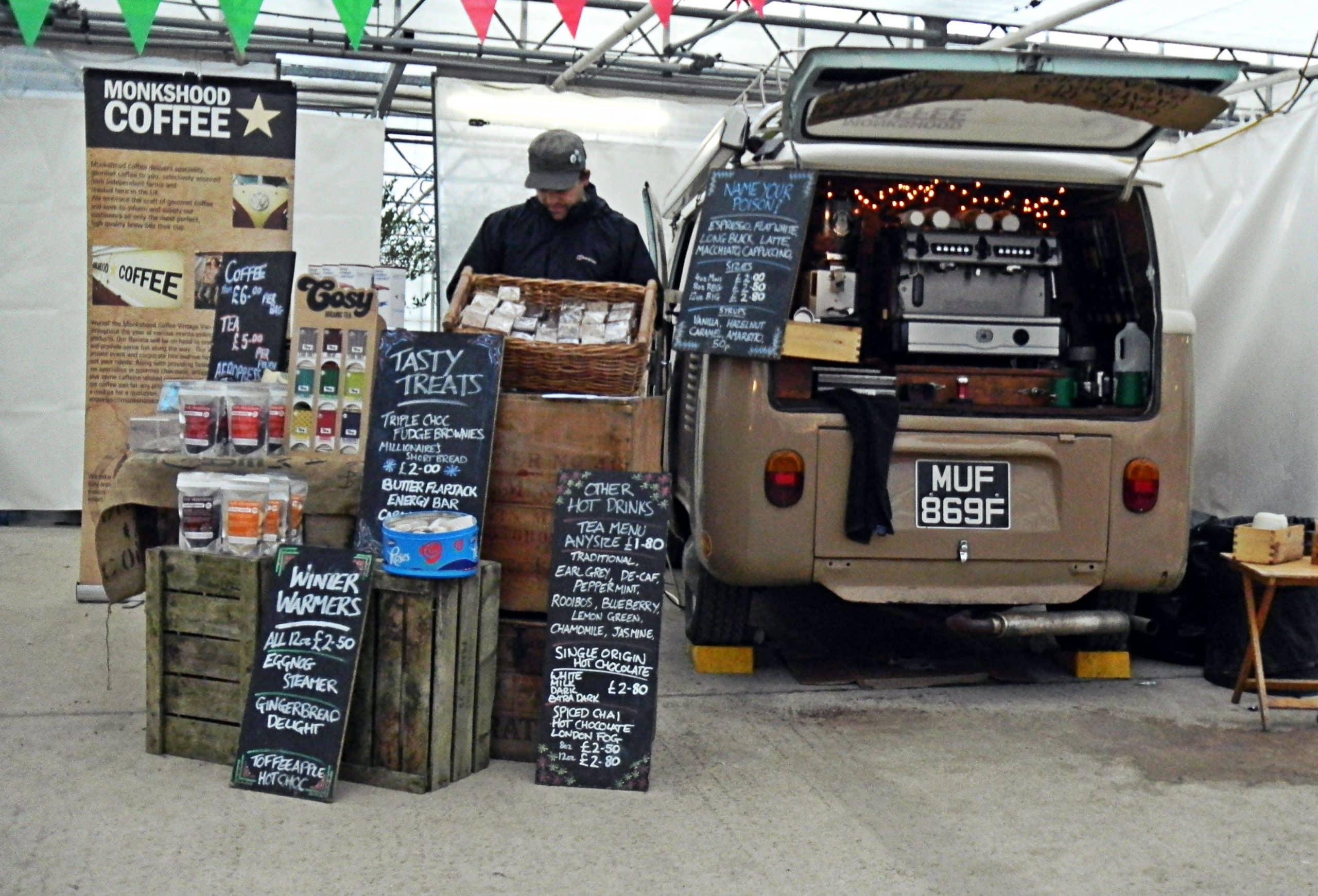 Waddesdon Manor food market monkshood coffee