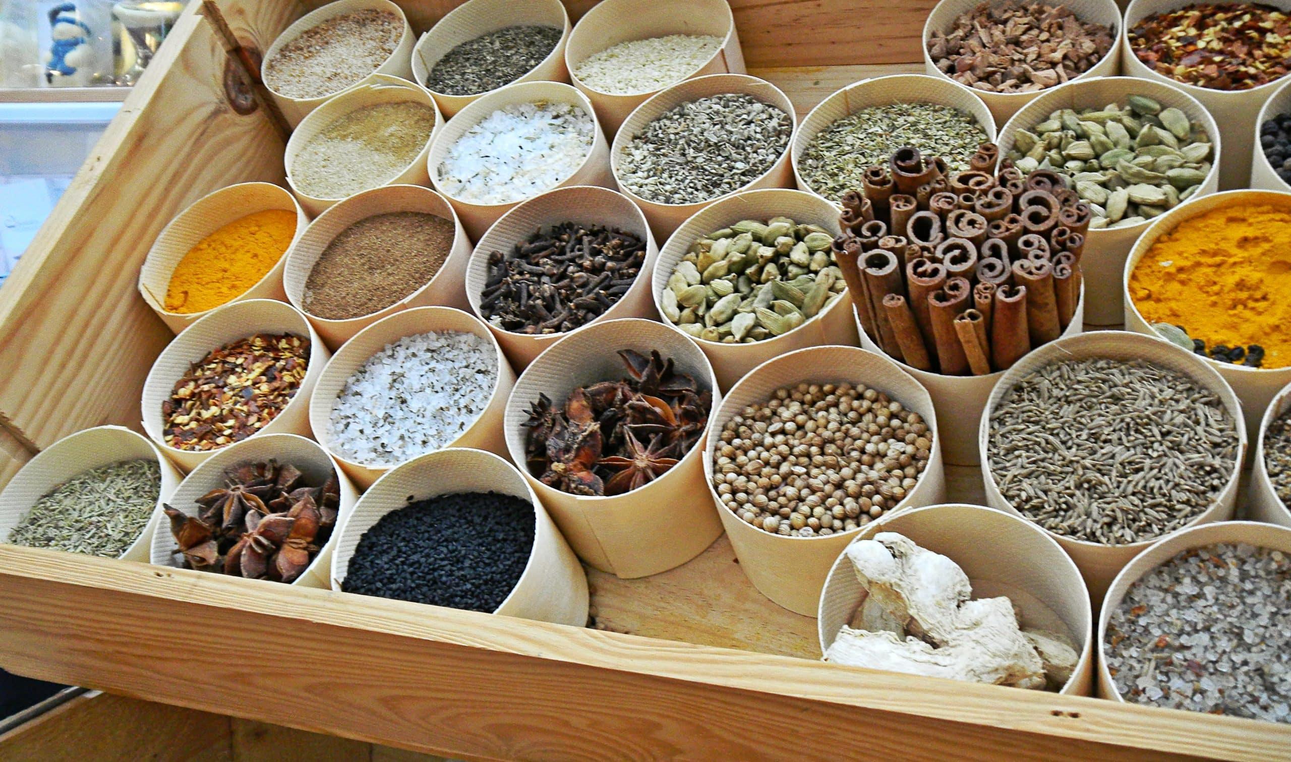 Waddesdon Manor food market spices