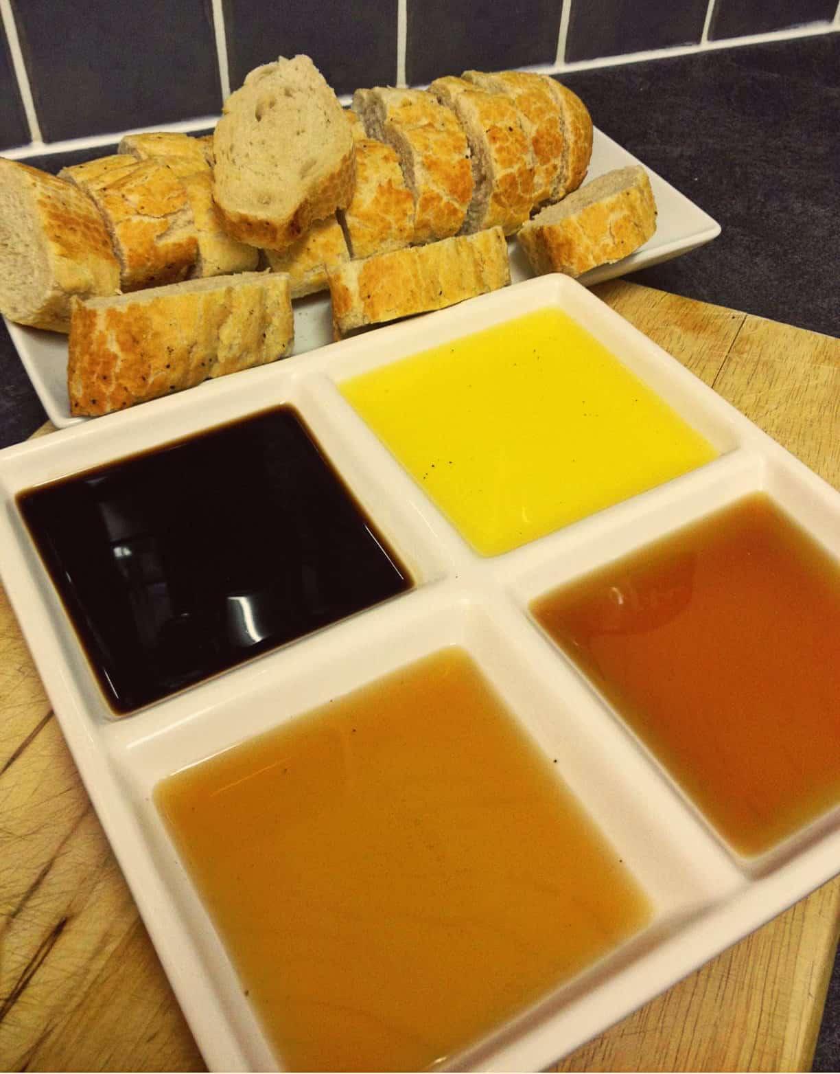 Alan Coxon oil vinegar french stick