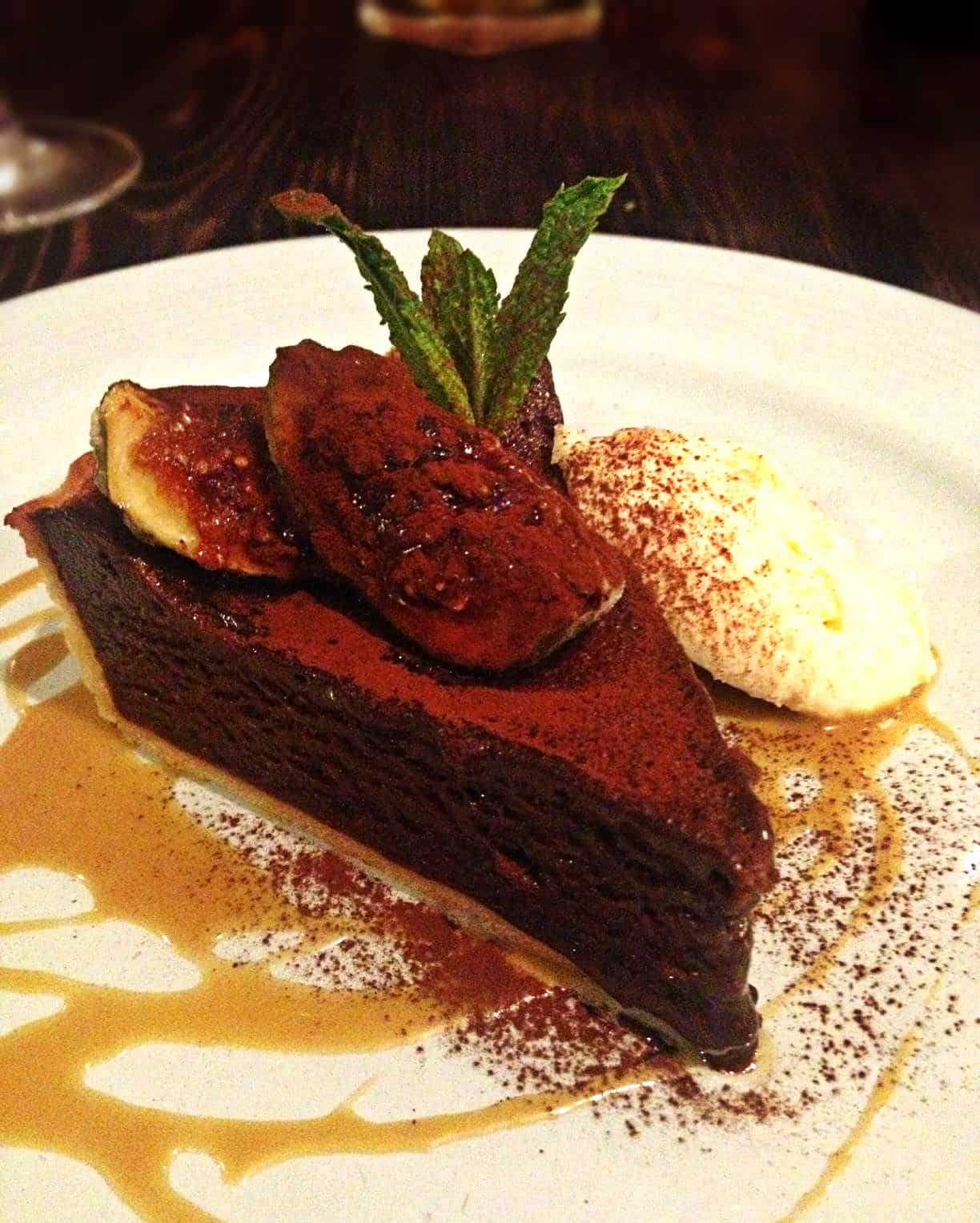 Chocolate espresso tart with figs. Couldn't get enough of those figs ...