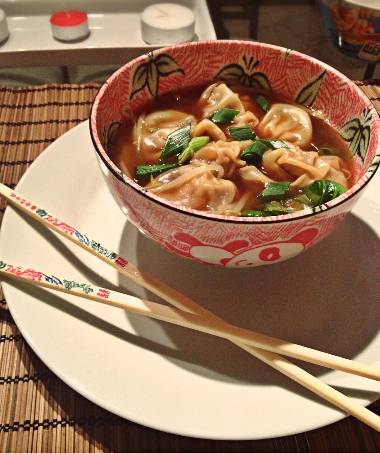 Finished wonton soup 2