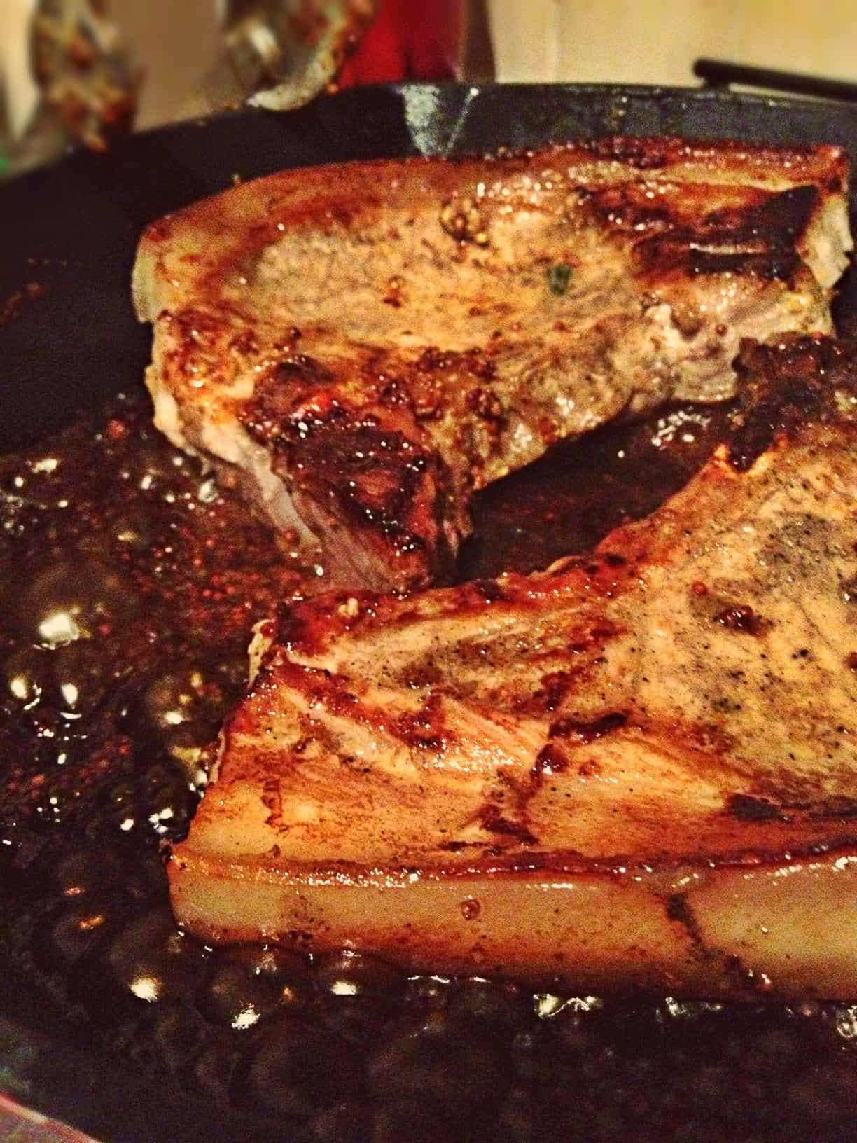 Honey mustard pork chop