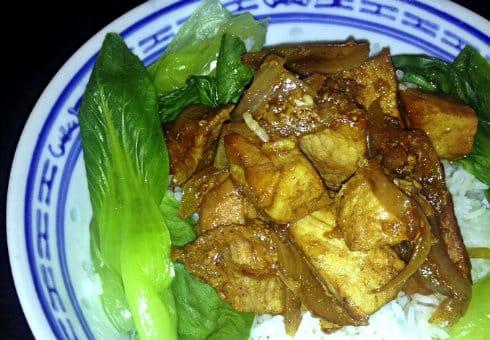 Rick Stein Chinese stew rice pak choi