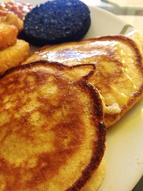 American pancakes golden syrup