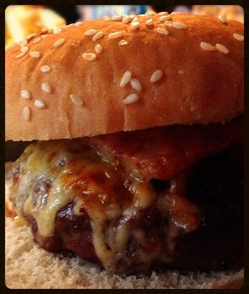 Cheese bacon burger Greedy Goose Moreton in Marsh