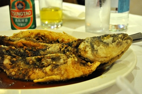 Chinese new year salted sea bass