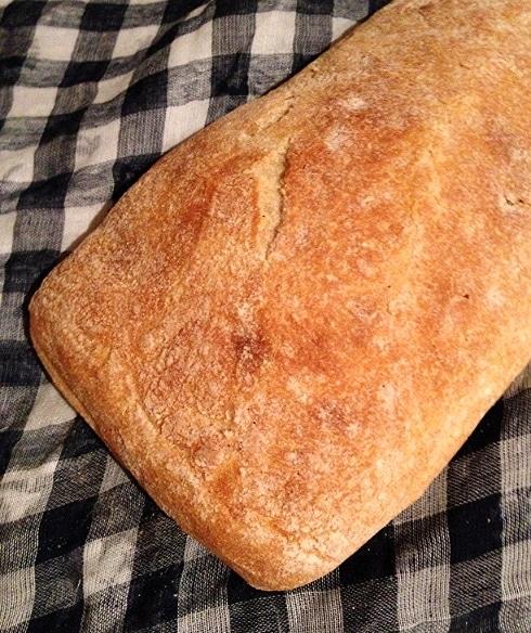 Ciabatta bread steak sandwich