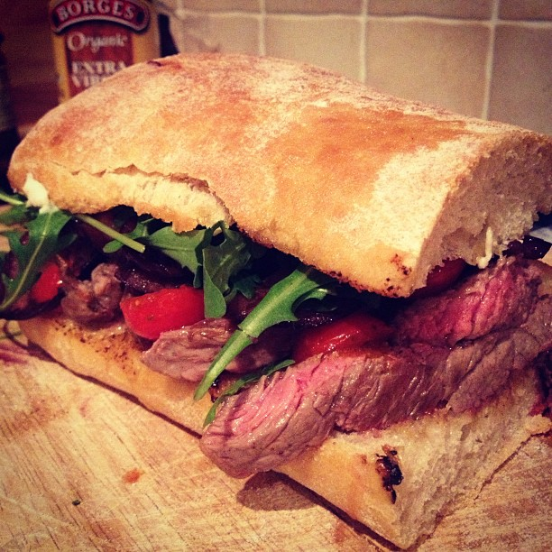 Instagram steak sandwich