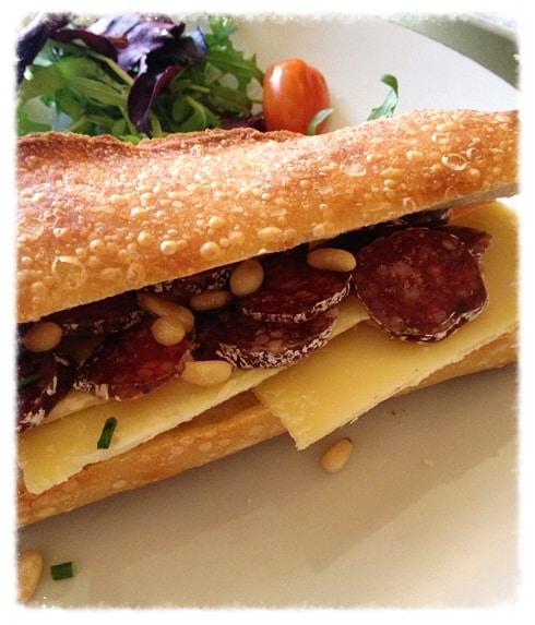 Cheese lamb sausage baguette Amsterdam