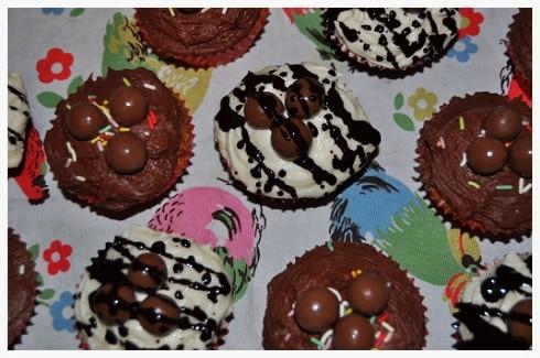 Easter malteaser cupcakes