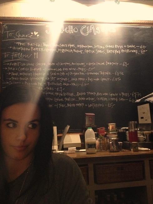 Jericho Tavern menu