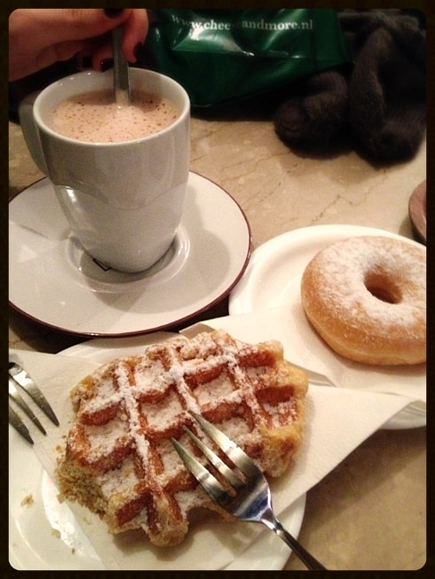 Waffles hot chocolate Amsterdam