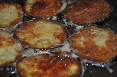 aubergines crisps fried in butter low carb