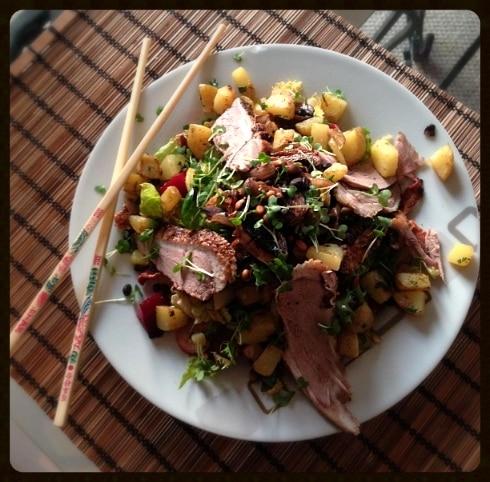 Asian duck salad yum dim sum