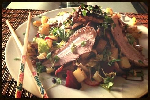 Duck asian salad yum dim sum