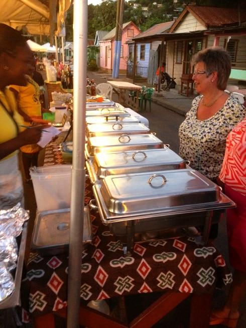 Anse La Raye fish fry St Lucia
