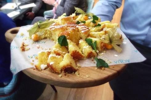Aqua Italia Milton Keynes lemon drizzle cake