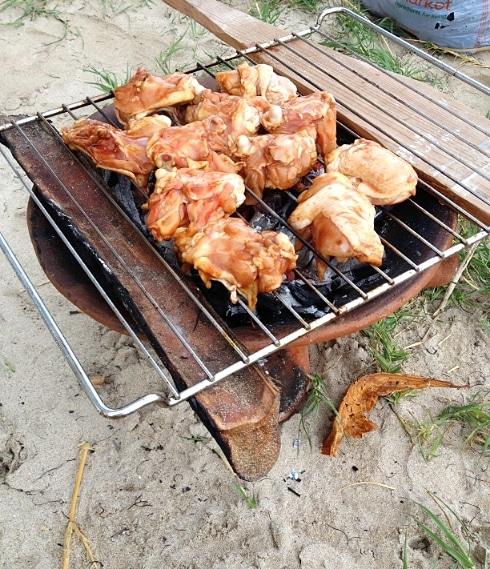 BBQ Chicken five dollar beach St Lucia