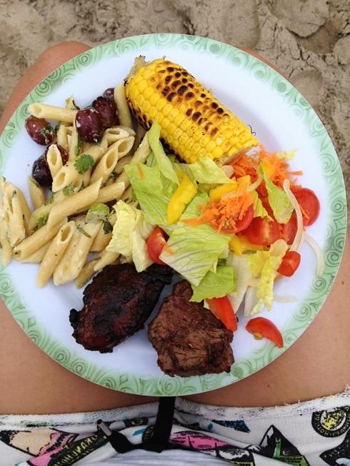 BBQ five dollar beach St Lucia