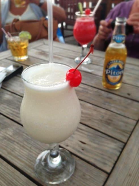 Best Pina Colada St Lucia Marina Boardwalk