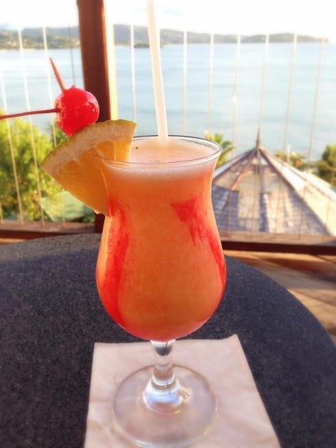 Calabash Cove Mango daquiri St Lucia
