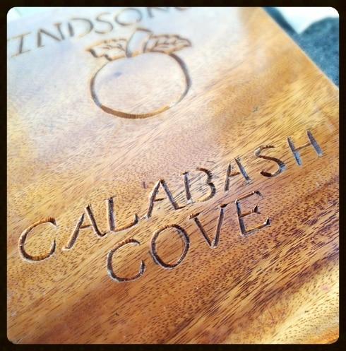 Calabash Cove menu St Lucia