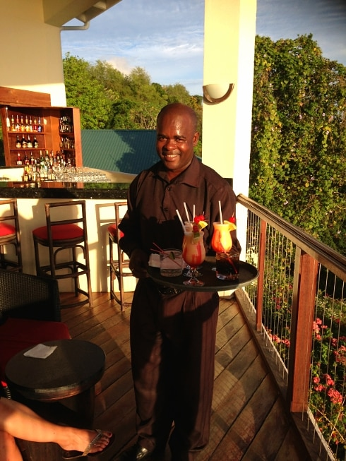 Calabash Cover Waiter St Lucia