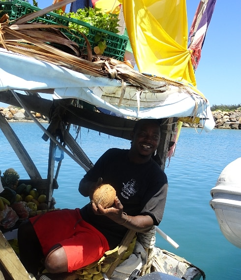 Fruit man boat St Lucia