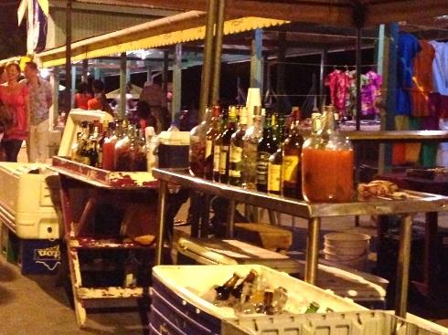 Spiced rum Anse La Raye fish fry St Lucia
